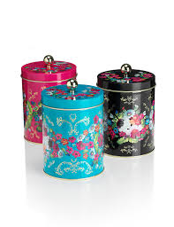 3 pack floral tea coffee u0026 sugar tins m u0026s