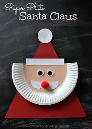 Christmas Crafts For Classroom - paper plate santa claus santa crafts and craft