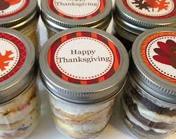 6 8oz cupcakes in a jar jars thanksgiving happy