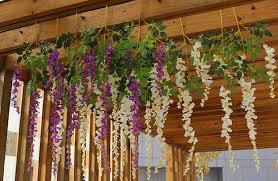 House Decoration Wedding Long Stem Artificial Wisteria Flowers For Wedding Decorations