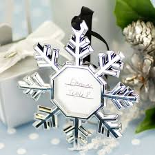 ornament favors snowflake party place card ornament frames