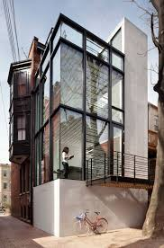 Modern Row House Barcode House By David Jameson Architect