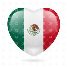 heart with mexican flag colors i love mexico vector image 32031