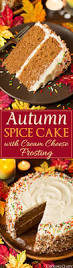 thanksgiving themed appetizers autumn spice cake with cream cheese frosting recipe fall cakes