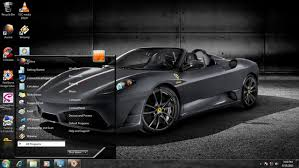 free download themes for windows 7 of car background screen dark ferrari windows 7 themes source for