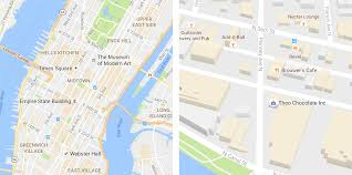 googal maps maps gets facelift for subtler look inquirer technology