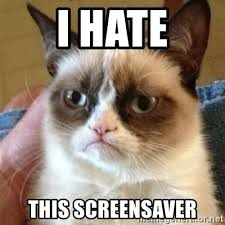 i hate this screensaver grumpy cat meme generator