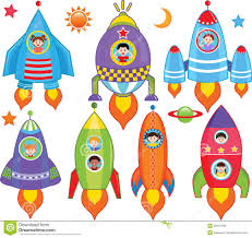 kids inside spaceship spacecraft stock photos image 28157793