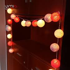 led garland christmas lights yimia 20 35 cotton balls led garland string lights battery powered