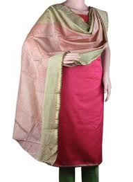 rani pink colour buy chanderi silk salwar suit in rani pink color apparel for women