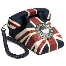 Union Jack Home Decor Retro Phones Vintage U0026 746 Telephones Cuckooland