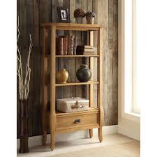 Home Decor Shelf by Linon Home Decor Santa Fe Antique Pine Open Bookcase 76062ant01u