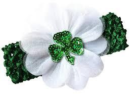green headband st s day shamrock baby headband green