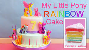my little pony rainbow cake how to make easy mlp cake by pink cake