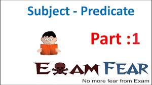 Worksheets On Subjects And Predicates English Grammar Subject Predicate Part 1 Introduction Youtube