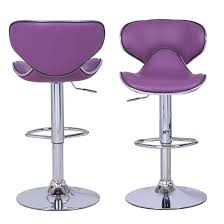 Barstool Chair Comfort And Style Meets At Adeco Purple Cushioned Leatherette
