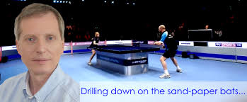 table tennis and ping pong drilling down on the sand paper bats table tennis england