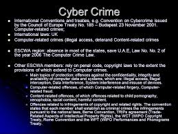 Council Of Europe Convention On Cybercrime Budapest Models For Cyber Legislation In Escwa Member Countries Presented