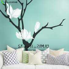 compare prices on large tree wall decals online shopping buy low magnolia flower tree wall decal blossom large tree wall stickers home decor living room removable vinyl