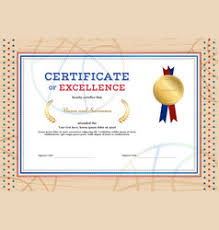 certificate of completion template botany theme vector image