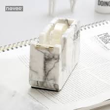 Marble Desk Accessories Never Marble Edition Masking Cutter Adhesive Dispenser