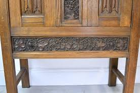 Oak Bar Cabinet Arts U0026 Crafts Bar Cabinet In Oak With Carved Panels England