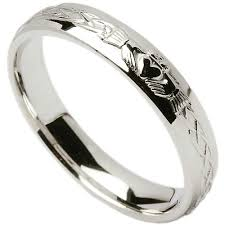 celtic rings with images Irish wedding ring celtic knot claddagh mens wedding band at jpg
