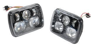 1988 jeep comanche interior j w speaker 8900 led headlight kit for 84 01 jeep wrangler yj
