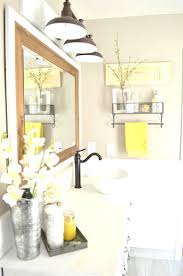 yellow and grey bathroom decor birdcages