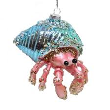 december diamonds blown glass ornament hermit crab home page