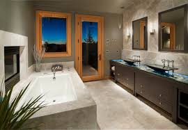 45 modern bathroom interior design ideas bathroom with a patio connection features rich array of materials from marble flooring wall