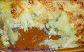 cuisiner du colin recette parmentier de colin aux courgettes 750g