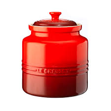 Red Kitchen Canister Cookie Jar Big Red Le Creuset Le Creuset Cookware Recipes