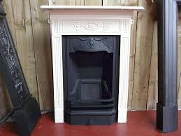 victorian black u0026 cream painted bedroom fireplace 016b 1460