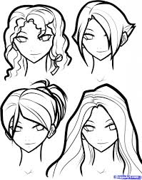 how to draw girls hair step 12 how to draw hair for girls