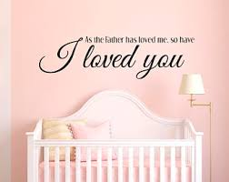 Scripture Wall Decals For Nursery Baby Scripture Decal Etsy