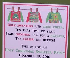 invitations ugly sweater party christmas by simplystampedinvites