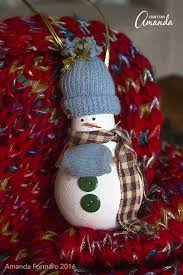 light bulb snowman ornament recycle an light bulb