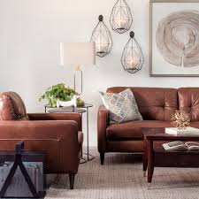 Modern Brown Sofa Decorating With Brown Leather Furniture Tips For A Lighter