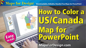 Map Usa And Canada by How To Color A Usa And Canada Map To Make Sales Territory Maps