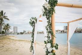 wedding arches gold coast budds wedding ceremony budd s reserve