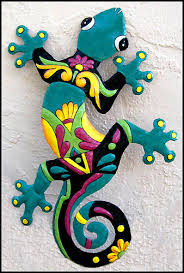 gecko wall art indoor or outdoor wall decor garden art