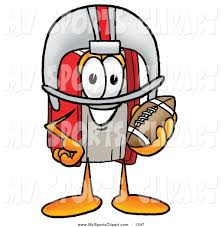 sports clip art of a sporty red book mascot cartoon character in a