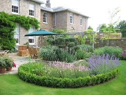exterior great garden landscaping ideas stone border concrete
