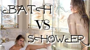luxury bath vs shower routine caci twins youtube