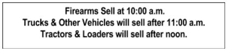 Previous Auctions WBAS