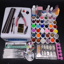 pro 36w uv lamp nail gel kit 36 uv gel solid glitter uv gel sets