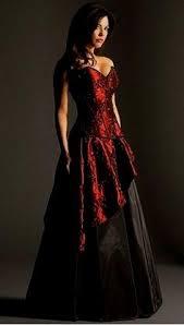 gothic wedding dresses red and black naf dresses
