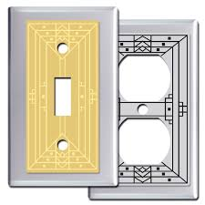 craftsman style light switches california arts crafts wall switch plates in polished chrome