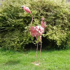 flamingo garden ornament